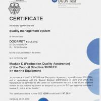 Certyfikat systemu jakosci MODUL D en