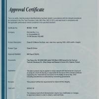 Drzwi B15 certyfikat GL